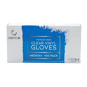 Product image for Colortrak Medium Powder Free Vinyl Gloves 100 Box