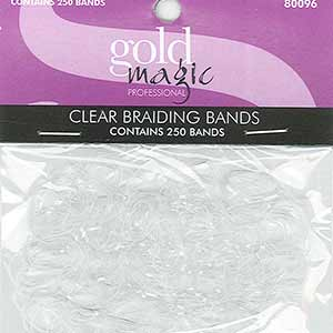 Product image for Gold Magic Clear Braiding Bands 250 Ct