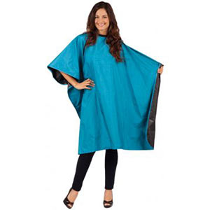 Product image for Betty Dain Reversi Cape - Peacock Blue/Black