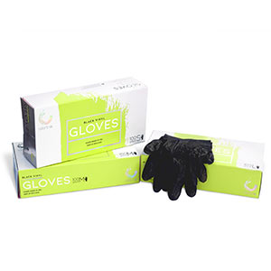 Product image for Colortrak Medium Black Vinyl Gloves 100 Pk
