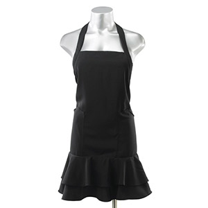 Product image for Beauty Love Frill Black Tie  Apron