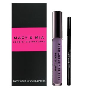 Product image for Macy & Mia Liquid to Matte Lip Set Samantha