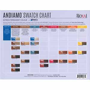 Product image for Aloxxi Andiamo Paper Swatch Chart