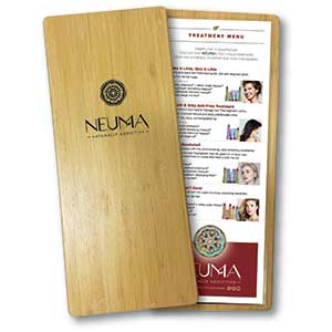 Product image for Neuma Bamboo Backbar Treatment Menu Cover