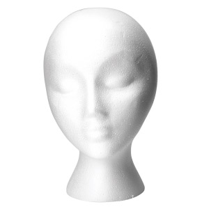 Product image for Babe Hair Extension Styrofoam Mannequin Head