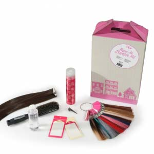 Product image for Babe Hair Extensions Tape-In Starter Kit