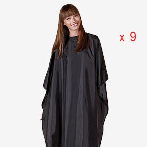 Product image for Betty Dain Nylon Chemical Cape Black 9 Piece