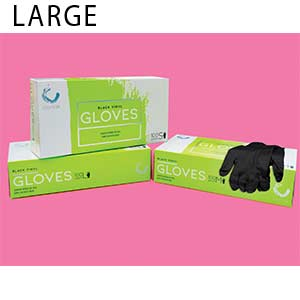 Product image for Colortrak Large Black Gloves Buy 1, Get 1 FREE
