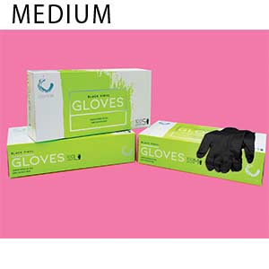 Product image for Colortrak Medium Black Gloves Buy 1, Get 1 FREE