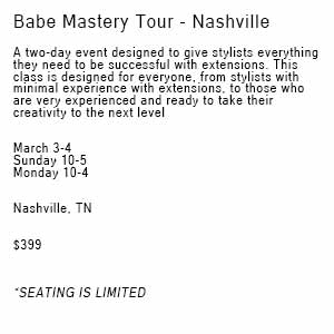 Product image for Babe Extensions Mastery Tour Nashville 3/3-3/4