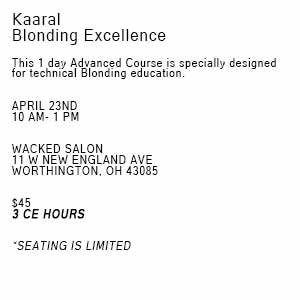 Product image for Kaaral Blonding Excellence-COLUMBUS