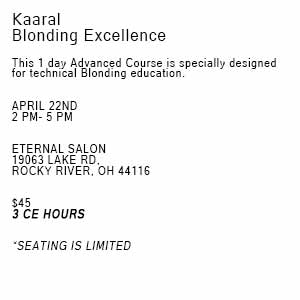 Product image for Kaaral Blonding Excellence-CLEVELAND