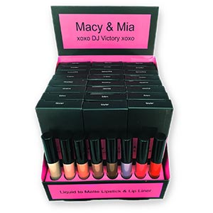 Product image for Macy & Mia Liquid to Matte Lip Set Display